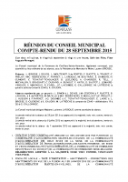 Conseil municipal du 28 septembre 2015