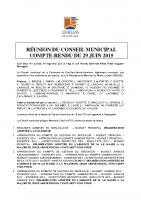 Conseil municipal du 29 juin 2015