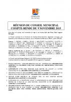 Conseil municipal du 9 novembre 2015