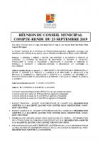 Compte rendu du CM du 23 septembre 2019