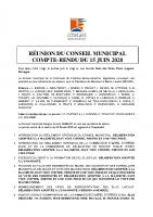 CR CM 15 juin 2020
